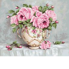G567 Розовые розы Набор для вышивания - Гобелен