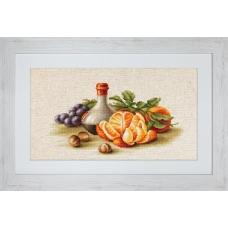 BL2250 Натюрморт с апельсинами. Luca-S. Набор для вышивания нитками