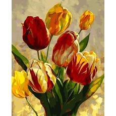 Картина по номерам Весенние тюльпаны MR-Q2182 40 х 50 см Mariposa