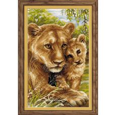 Набор для вышивания Риолис 1262 Львица с львенком