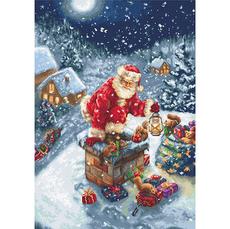 B577 Дед Мороз Набор для вышивания крестиком