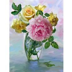 Букет с розовым пионом худ Бузин Игорь (VK018)