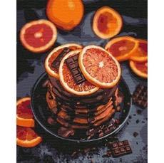 KHO5593 Картина по номерам Апельсиново-шоколадное наслаждение Идейка