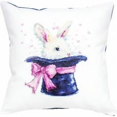 PB139 Кролик. Luca-S. Набор для вышивания нитками. Подушка