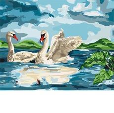 KH4147 Рисование по номерам У озера Идейка 40х50см