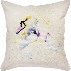 Набор для вышивания нитками Подушка Лебеди ( PB137) Luca-S