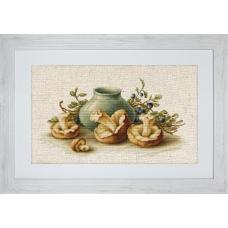 BL2247 Натюрморт с грибами. Luca-S. Набор для вышивания нитками