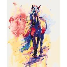 Картина раскраска Радужный конь Идейка KH2497 40 х 50см