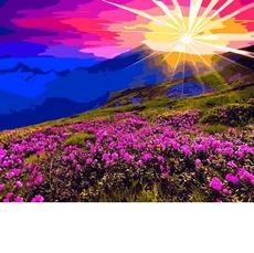 VP1165 Картина по номерам Рассвет в горах DIY Babylon