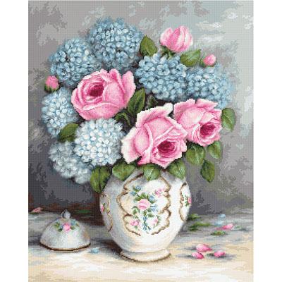 BA2322 Розы и гортензии Набор для вышивания крестиком