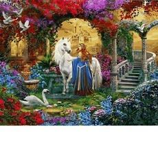 VP1233 Картина по номерам Леди и единорог Babylon