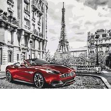 KHО3514 Картина раскраска Глубокий красный Идейка 40х50см