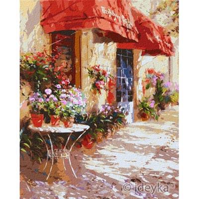 KHO3590 Картина по номерам Цветочный магазин Идейка