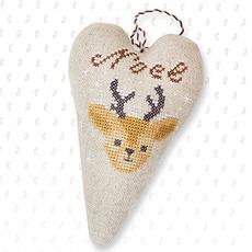 Набор для вышивки новогодней игрушки JK013