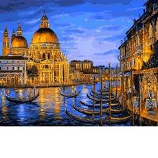 Причал ночной Венеции MR-Q2172