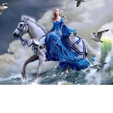 Девушка на лошади (VP125)