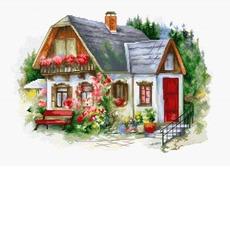 BU4005 Красивый загородный домик