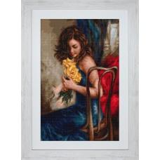B532 Желтые розы. Luca-S. Набор для вышивания нитками