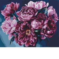 Картина раскраска Королевский букет Идейка KH2082 40 х 50см