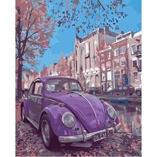 Картина по номерам Фиолетовое авто Идейка KHО2503 40 х 50см