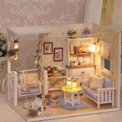 "3D Румбокс DIY House ""Комната Прованс"" Doll House Кукольный Домик CuteBee"