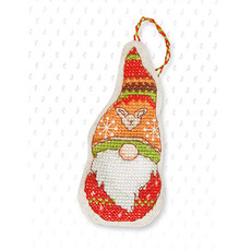 Набор для вышивки новогодней игрушки JK012