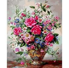 Букет роз и полевых цветов VP1050
