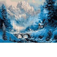 VK198 Картина на холсте Горный приют DIY Babylon
