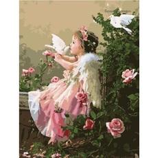 Ангелочек с голубями худ. Грошев, Слава (VP033)
