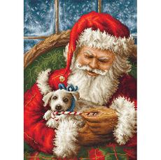B561 Дед Мороз  Luca-S. Набор для вышивания нитками