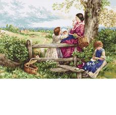 B562 Весенние цветы Luca-S. Набор для вышивания нитками