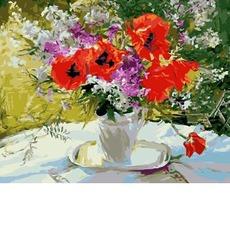 GX4417 Картина по Номерам Цветочное великолепие 40х50см RainbowArt