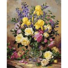 Желтые ирисы и розы VP1051