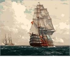 Корабль в море худ. Димер, Михаэль Цено (VP256)