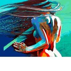 VP1185 Картина по номерам Ветер в волосах DIY Babylon