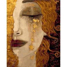 VP1189 Картина по номерам Золотая леди DIY Babylon