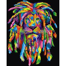 Радужный лев с дредами (вертикальная) VP989V