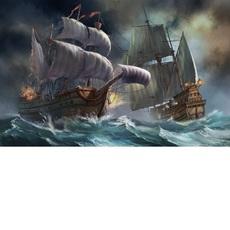 Сражение кораблей во время шторма (VP257)