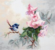 Набор для вышивания крестиком BA2313 Птичка Luca-s 36 х 31 см