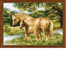 Набор для вышивания Риолис 1258 Лошадь с жеребенком