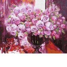 GX4641 Картина по Номерам Фиолетовое сияние в вазе 40х50см BrushMe