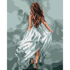 KH4618 Раскраска по цифрам Загадочная женщина Идейка 40х50см