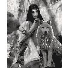 Картина раскраска Волчица Идейка KH4139 40 х 50см