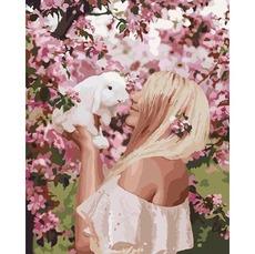 Картина раскраска Весенняя нежность Идейка KH4616 40 х 50см