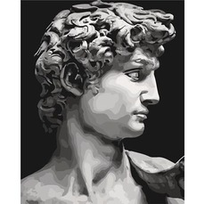 Картина раскраска Давид Микеланджело Идейка KH4617 40 х 50см
