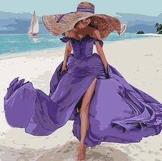 KH4623 Раскраска для взрослых Пляжная романтика Идейка 40х50см