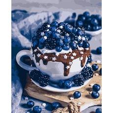 Картина раскраска Шоколадный брауни Идейка KH5557 40х50см