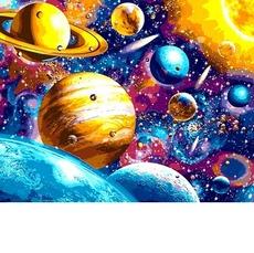 VP1196 Картина по номерам Космическая музыка DIY Babylon