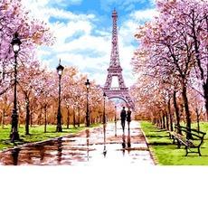 VP1198 Рисование по номерам Апрель в Париже DIY Babylon