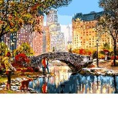 VP1199 Рисование по номерам Осеннее утро в Нью-Йорке DIY Babylon